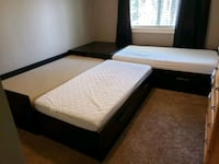 2 Custom IKEA Beds with Memory Foam Mattresses  Vancouver, 98685