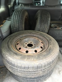 Used tires and rims -75% tread left
