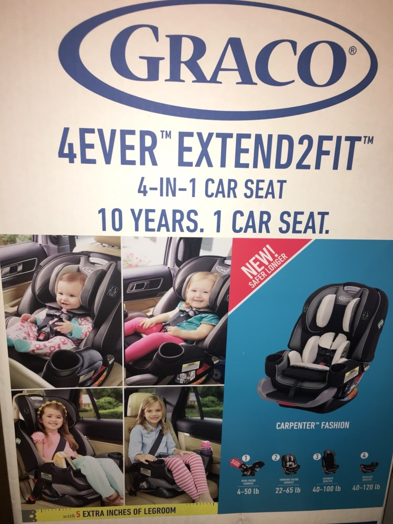 1/3 Used Graco 4ever extend 2 fit 4-in-1 car seat box for sale in New