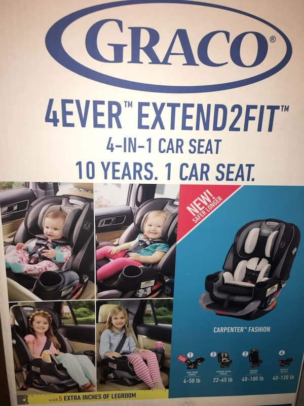 Graco 4ever Extend 2 Fit 4 In 1 Car Seat Box