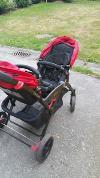 baby's black and red stroller Surrey, V3W