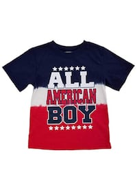 Red,White and blue shirt for little boy size 2t OKLAHOMACITY