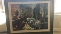 three white tablecloths painting with black frame Berkeley Heights, 07974