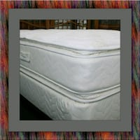 Twin mattress double pillow top with box spring Upper Marlboro, 20772