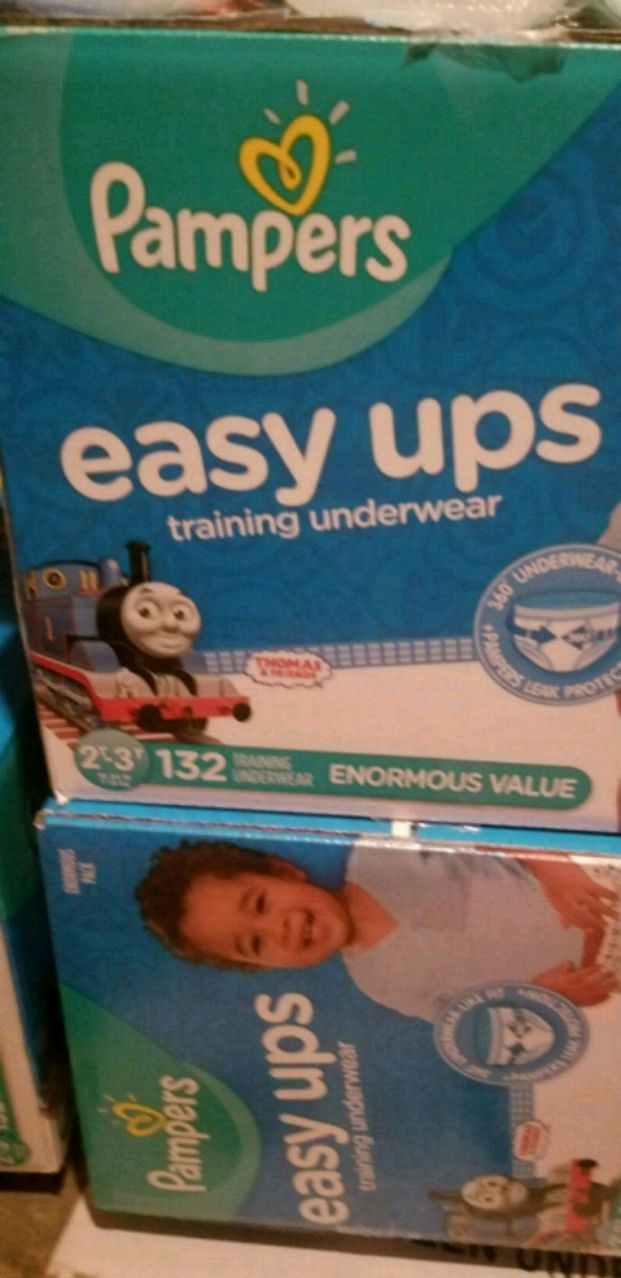 Used Pampers easy ups size 2t-3t 132 diapers box for sale in Westbury - letgo