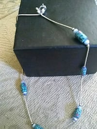 silver-colored necklace with blue gemstones Amarillo, 79109