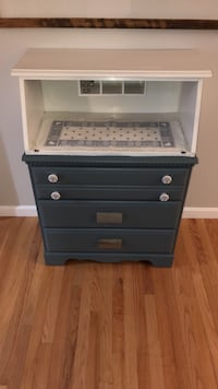 black and gray wooden 3-drawer chest Derry, 03038