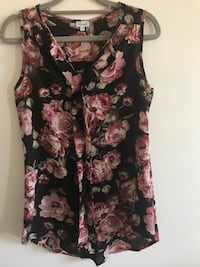 Brand new Black and pink floral sleeveless dress without tag