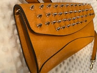 Tan spiked clutch Andover, 67002