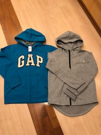 Blue and gray zip-up hoodie new size 10 kids Arlington, 22202