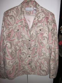 white and pink floral long-sleeved shirt Winnipeg