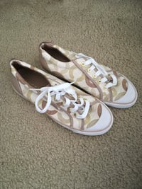 Brand New Tan Coach Sneakers(Size 7.5) Silver Spring