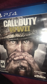 Ps4 call of duty wwii disk Falls Church, 22042
