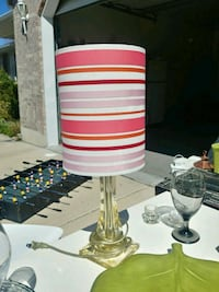white and red table lamp West Jordan, 84088