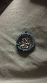 Oragami owl locket and charms blue color locket White Marsh, 21162