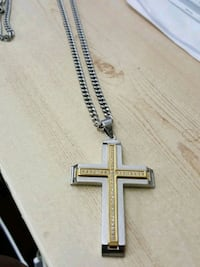 Diamonds cross necklace, 24inches,  st.steel Mayfield Heights, 44124
