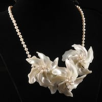 """NEW MOTHER OF PEARL NECKLACE 16""""  Ajax"""