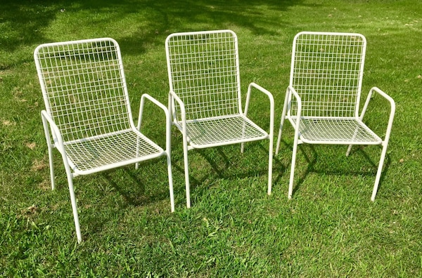 Magnificent 3 Emu Rio Patio Mid Century Modern Patio Chairs White Dailytribune Chair Design For Home Dailytribuneorg