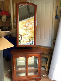 Cherry Cabinet & Mirror - excellent condition  Germantown, 20876