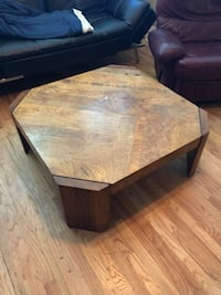 rectangular brown wooden coffee table Chicago, 60657