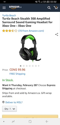 *BRAND NEW* TURTLE BEACH  XBOX ONE STEALTH 300  Toronto