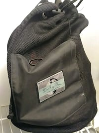 black and gray leather bag Bellevue, 68005