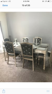 rectangular black wooden table with six chairs dining set Woodbridge, 22193