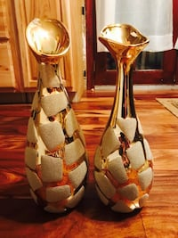 Two gold-vases