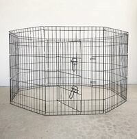 """New $35 Foldable 36"""" Tall x 24"""" Wide x 8-Panel Pet Playpen Dog Crate Metal Fence Exercise Cage South El Monte"""