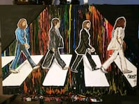 "Orginal Artwork by Ghost 24x36 "" Abbey Road Color  Gainesville"