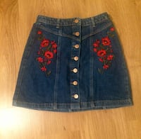 Denim mini skirt small size 8275 km
