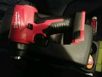 red and black Milwaukee cordless impact wrench 1617 mi