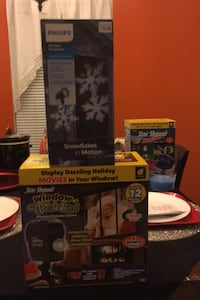 Christmas window holiday day movies both for 25 or small 10 large $15