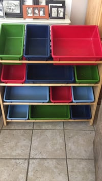 red, blue, and green toy organizer Los Angeles, 91344