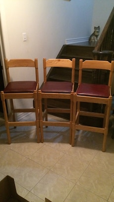 Bar chairs (set of 3)