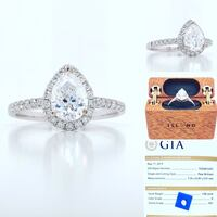 New: 18k White Gold Pear Diamond Engagement Ring Appraised $13,310 Victoria, V8Z 0B9