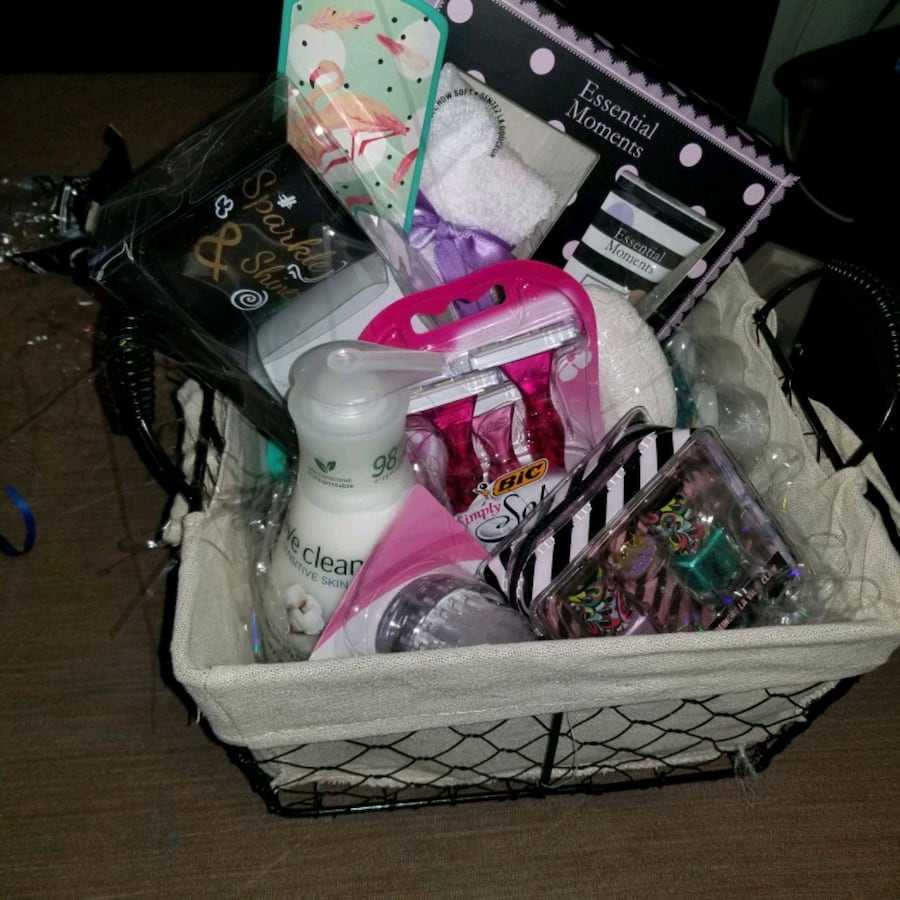 Foot pampering gift basket