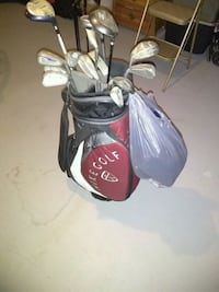 black and red golf bag with golf clubs Columbus, 43228