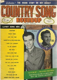 Song Hits Mag 1960 Roy Drusky Webb Pierce Elvis Hank Snow Ray Price SONG HITS  features:  Elvis Presley Ray Price Jim Reeves Hank Snow  some age staining on back of cover as per pic  Pick-up in Newmarket  (ref # bx 8) Newmarket