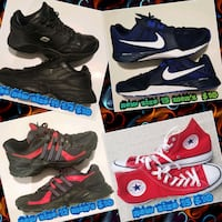 pair of black-and-red Nike running shoes Las Vegas, 89169