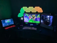 Epic Gaming PC and monitor