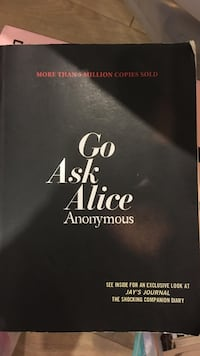 Go Ask Alice Anonymouse book Foster City, 94404