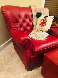 red leather tufted sofa chair Brookhaven, 30319