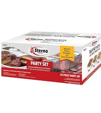 New sterno 24 piece party set (have multiple if needed) Franklin, 37067