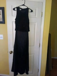 Size 10- Ladies black long gown. Sequined upper &  Stafford, 22554
