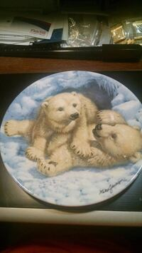 Bradex Polar Bear Collector Plate Centreville, 20120