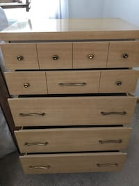 Brown wooden framed drawers