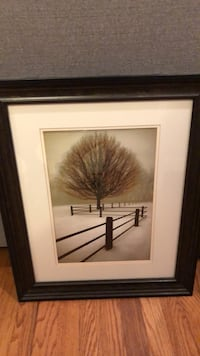 brown wooden framed painting of trees Raleigh, 27607