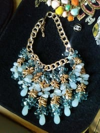 gold-colored and blue beaded necklace Brownsville, 78526