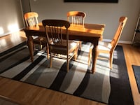 Dining Table, 4 Chairs, Solid Wood Frederick, 21701